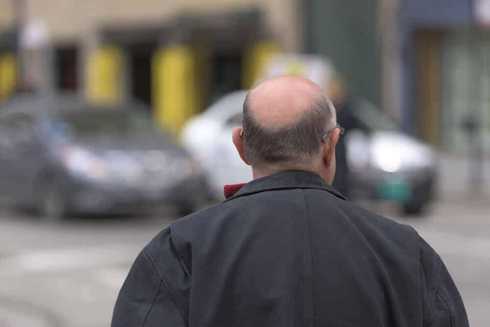older bald man