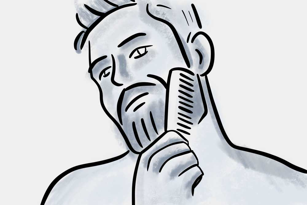 detangle beard first when combing