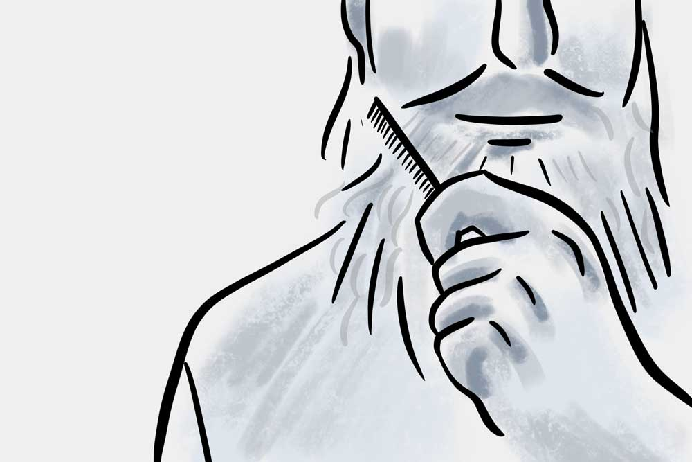 get a firm grip on your beard comb