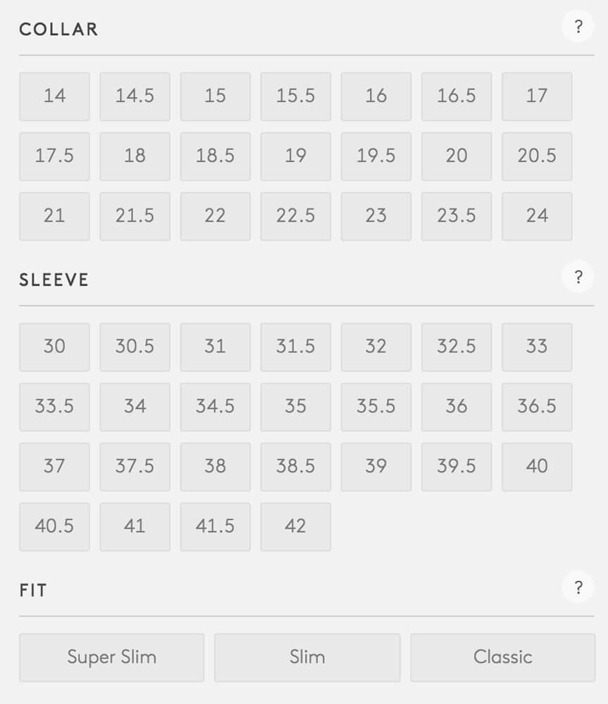 tommy hilfiger size chart usa