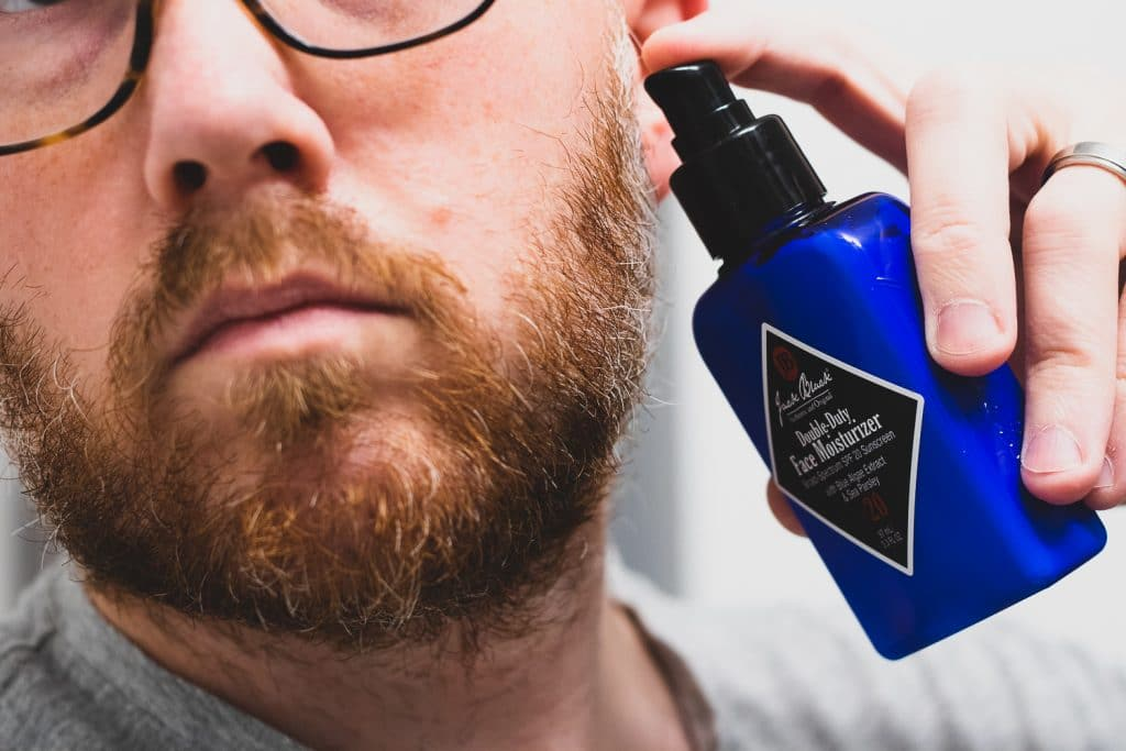 Lotion on Beard