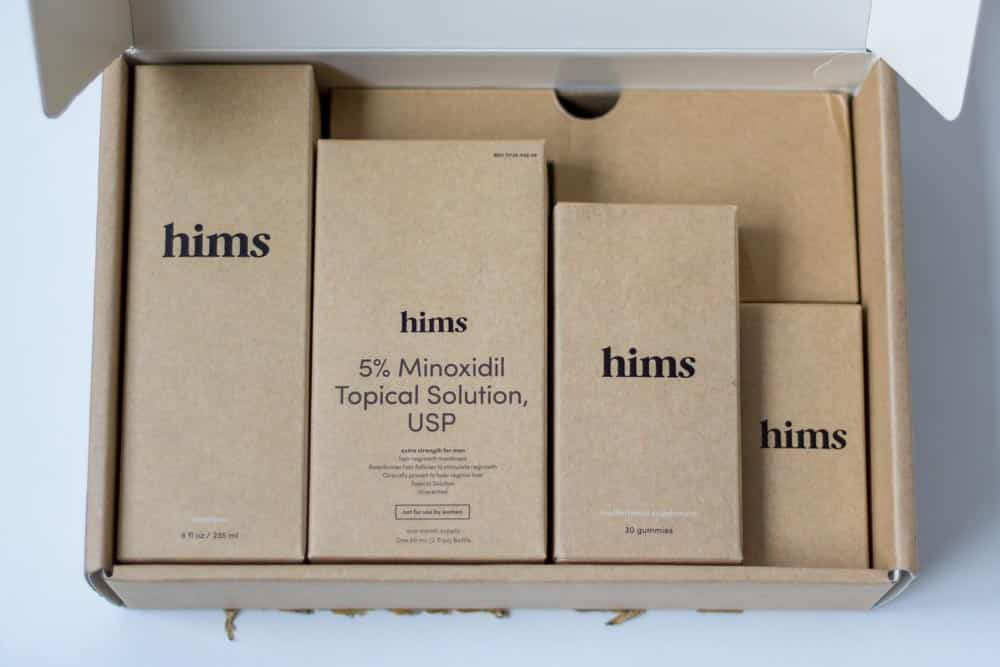 hims review - hair care kit