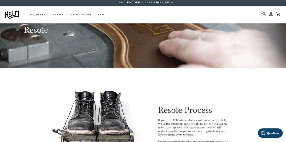 HELM Boots Review - Resole Process