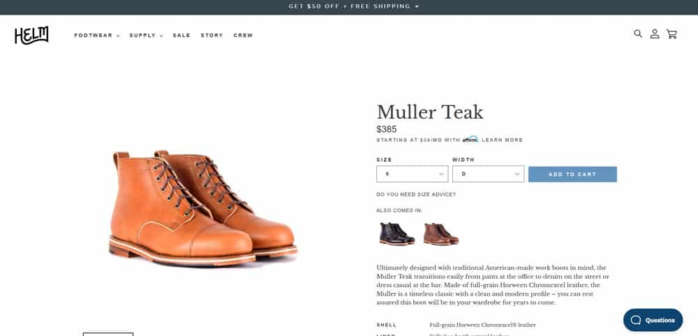 HELM Boots Review - Muller Teak