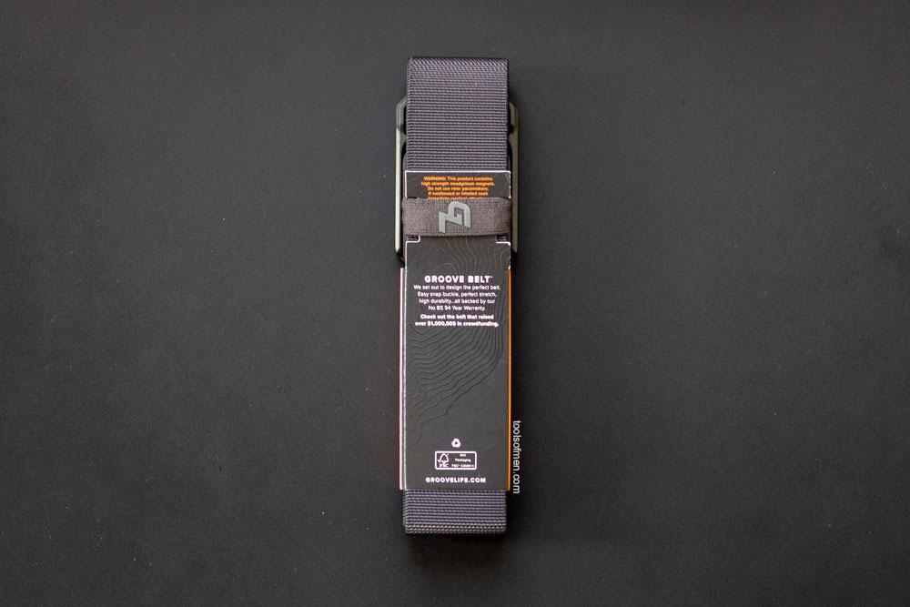 Groove Belt - back packaging