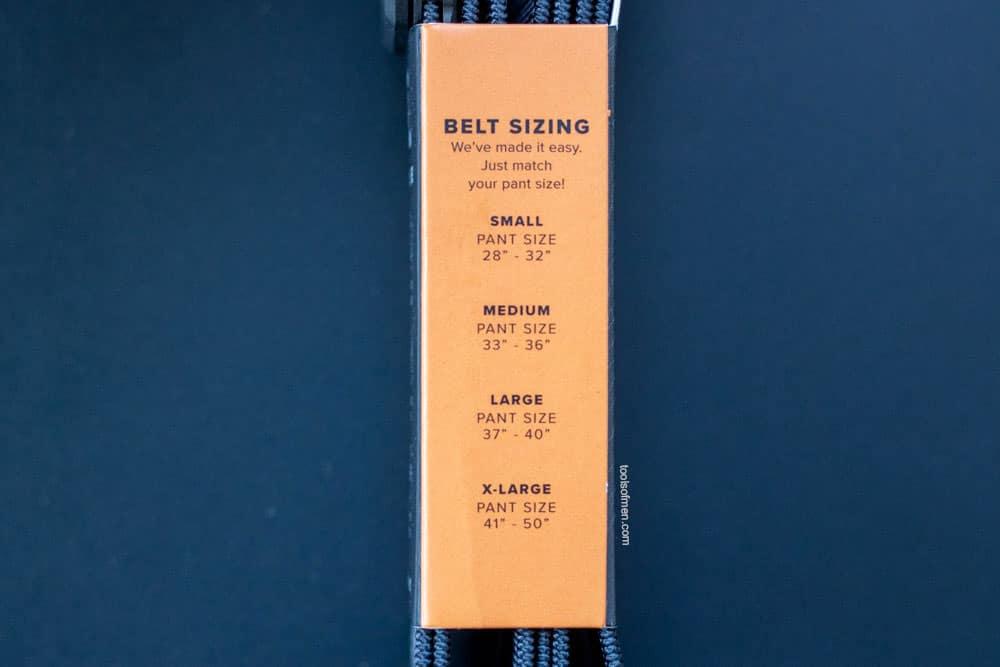 Groove Belt Sizing Information
