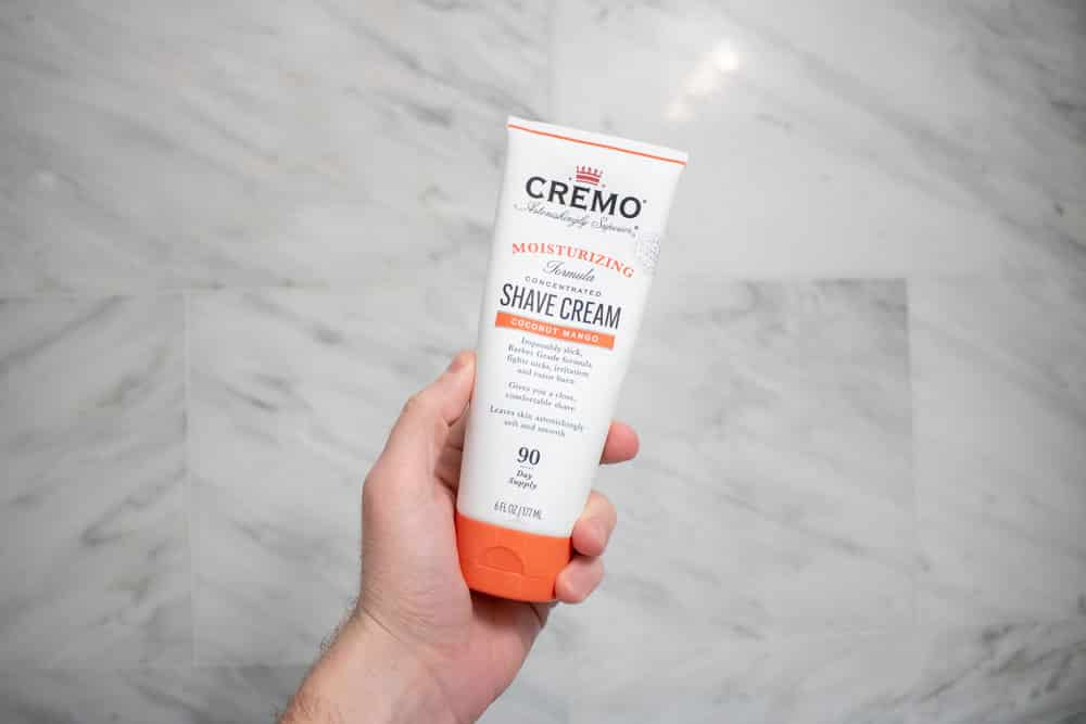 use a thick shave cream when shaving in the shower