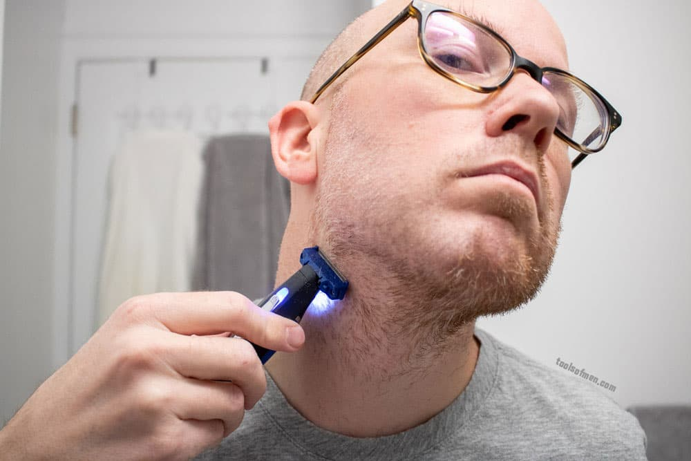 shaving with microtouch solo