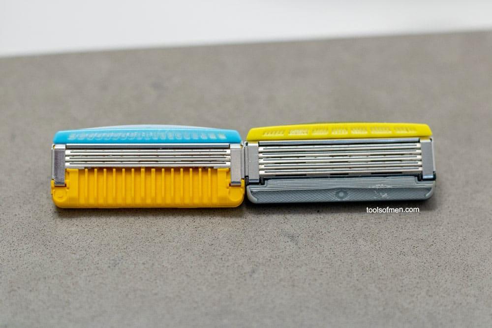 Schick Hydro Stubble Eraser - Razor Head Comparison