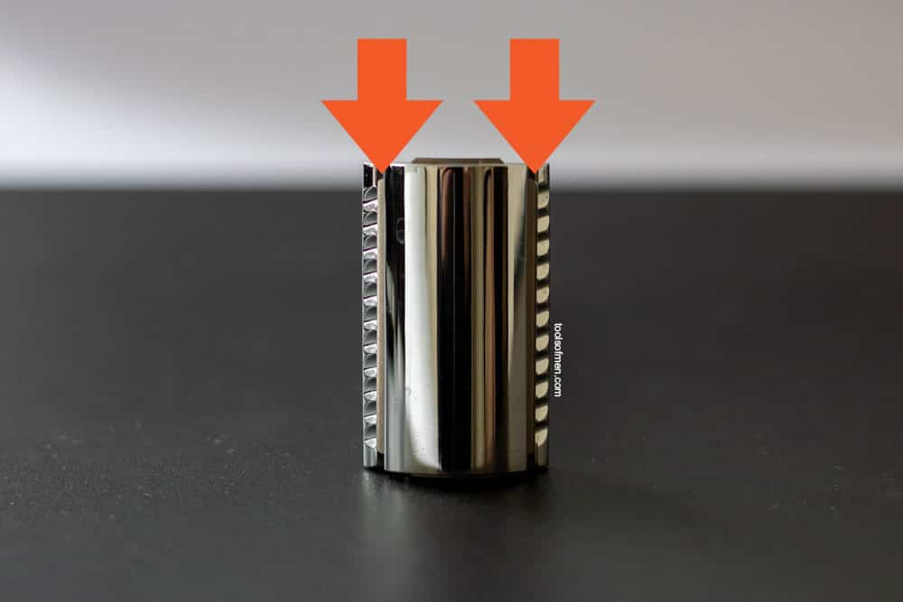 cutting blade on a double edge safety razor