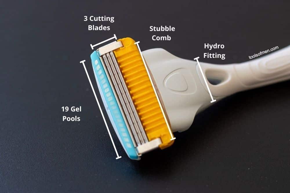 Schick Hydro Stubble Eraser - Razor Head Diagram