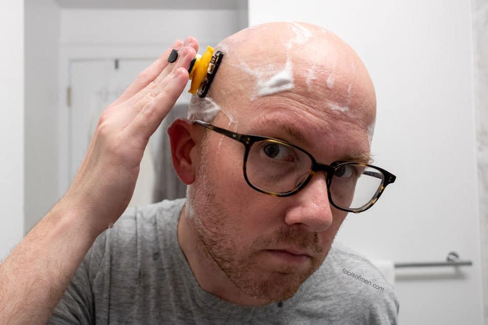HeadBlade Moto shaving front of head
