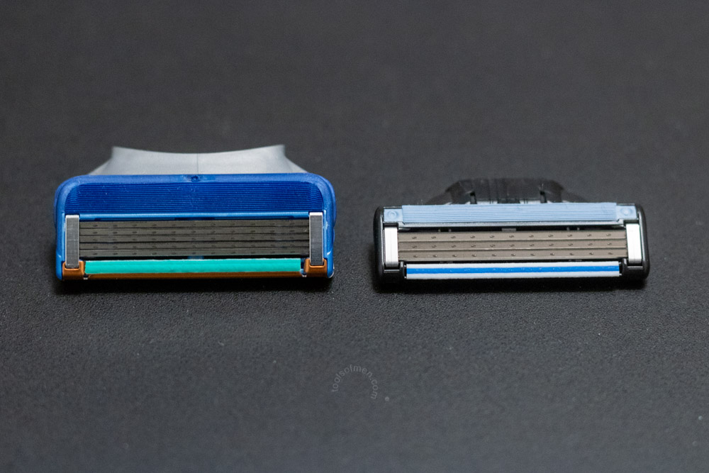 The Mach3 head is narrower when compared to other modern cartridge razors