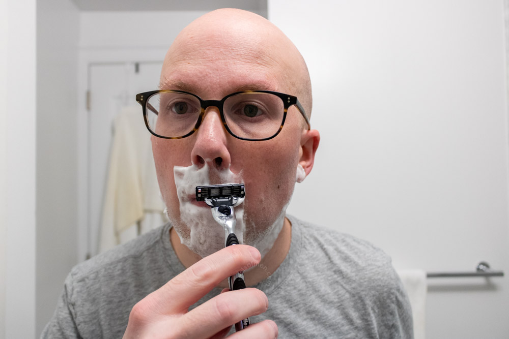 Various Pictures Shaving With the Gillette Mach3