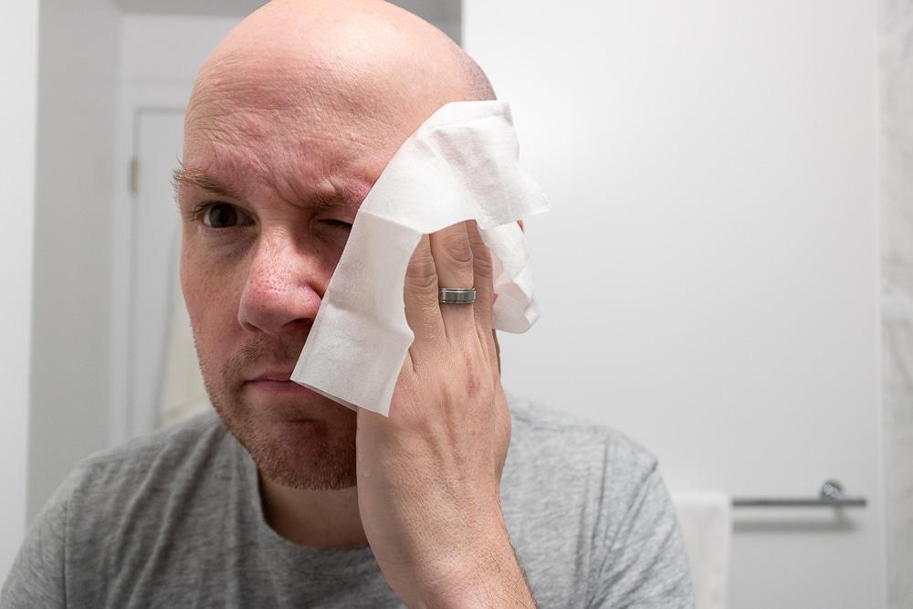 Ursa Major Review - Face Wipe Application 1