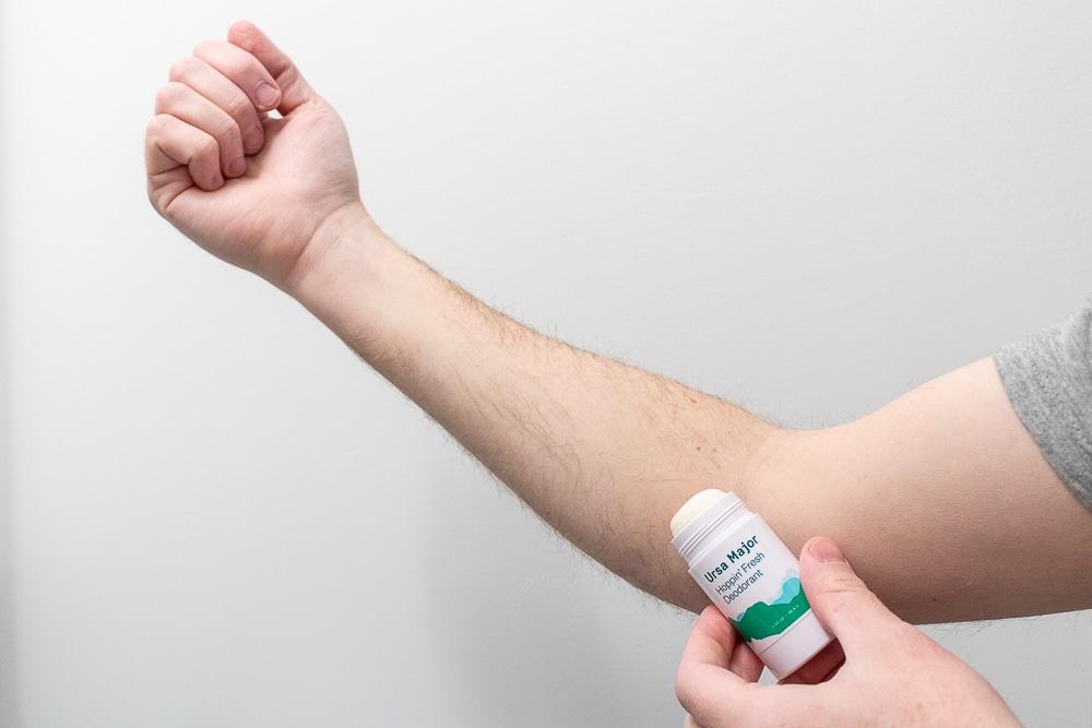 Ursa Major Review - Hoppin Fresh Deodorant Application