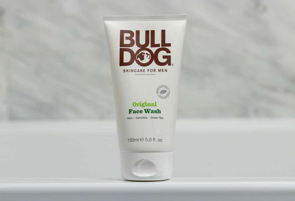 bulldog skincare review - face wash packaging