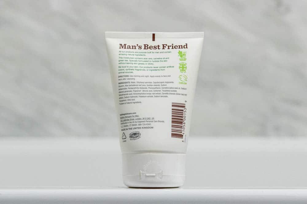 bulldog skincare review - moisturizer back