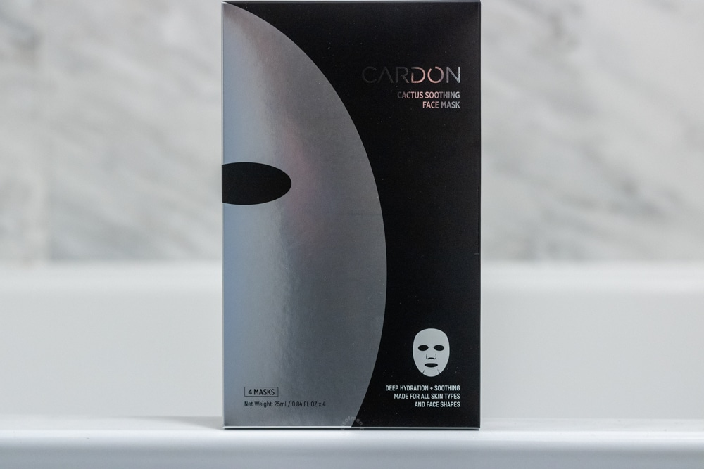 cardon review - face mask packaging