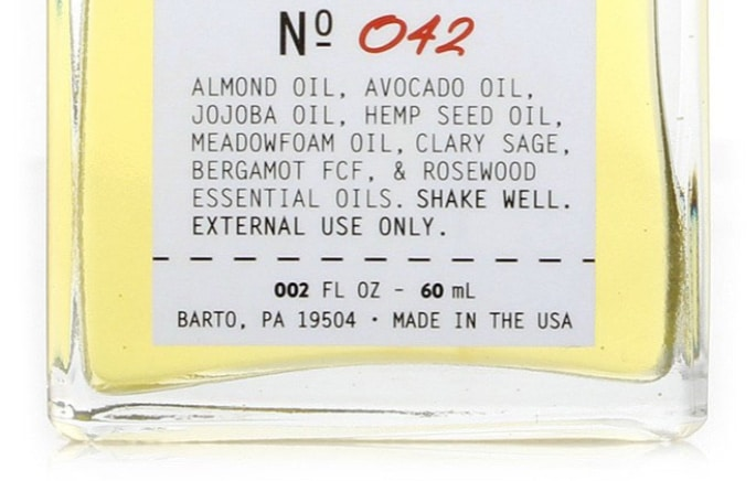crux pre shave oil ingredients