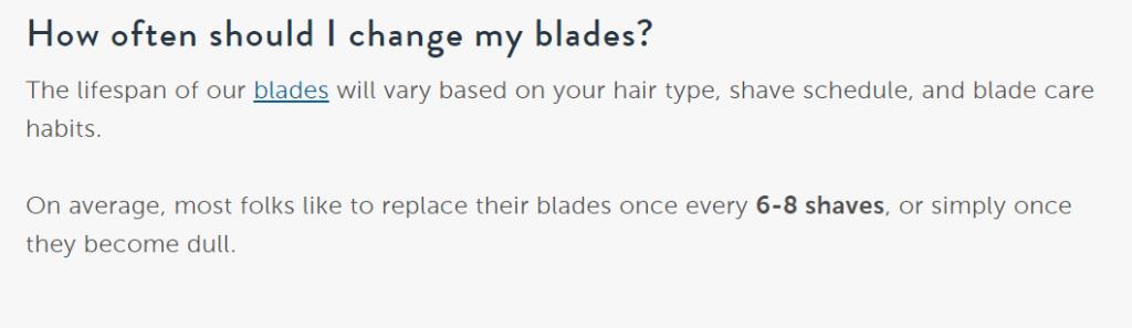 how many shaves per Harry's razor