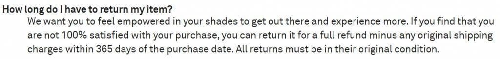 Sunglass-Warehouse-Return-Policy