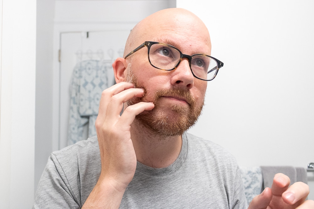 massage into skin and facial hair