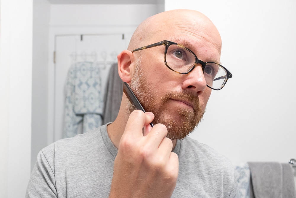 style with your beard comb or beard brush