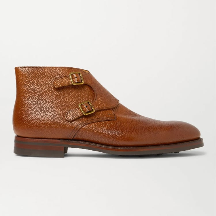 George Cleverley Tan Monk Boots