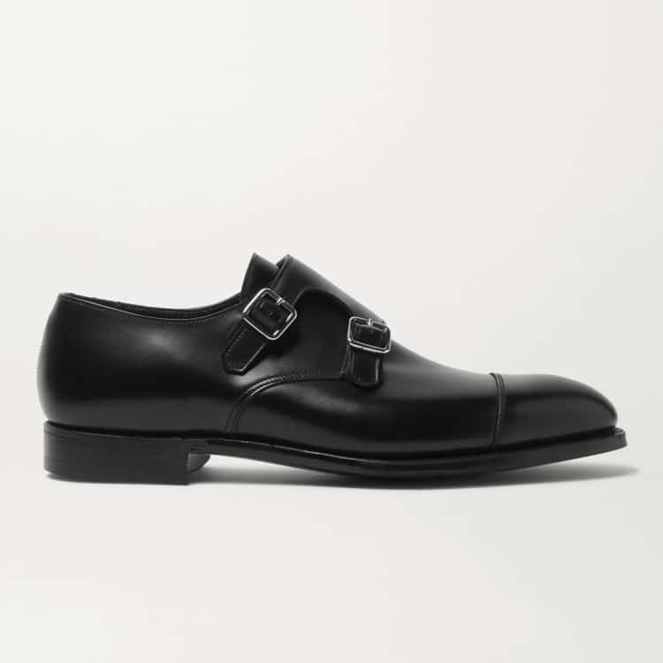 George Cleverley Thomas Leather Monk Strap Shoes