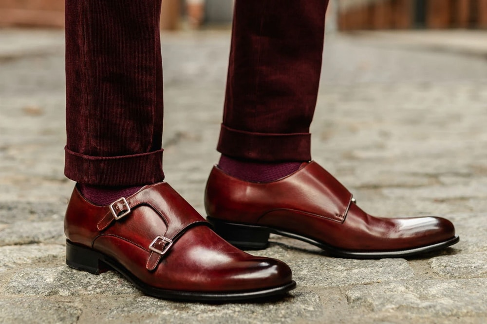 Paul Evans The Poitier Double Monk Strap Shoe