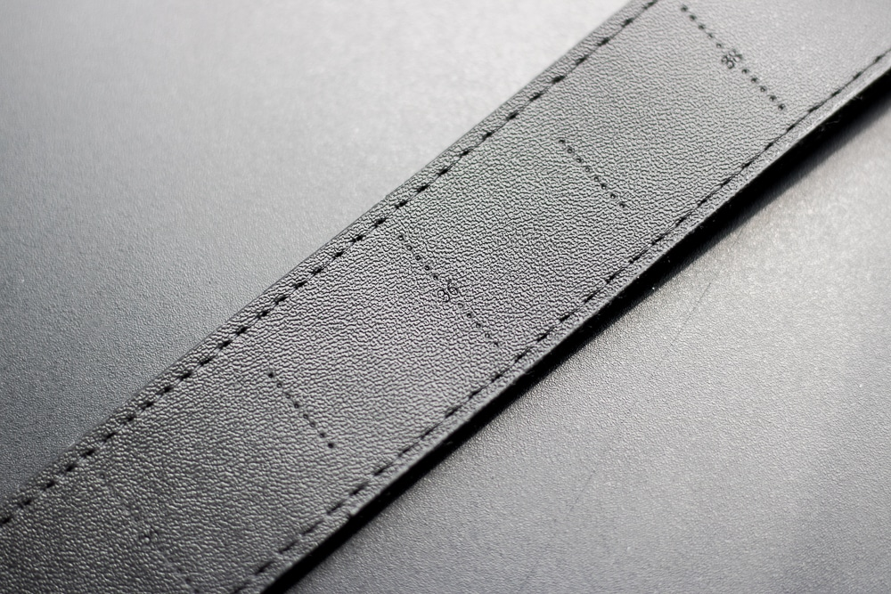 SlideBelts Review - Overview of Strap Sizes Etched into Belt