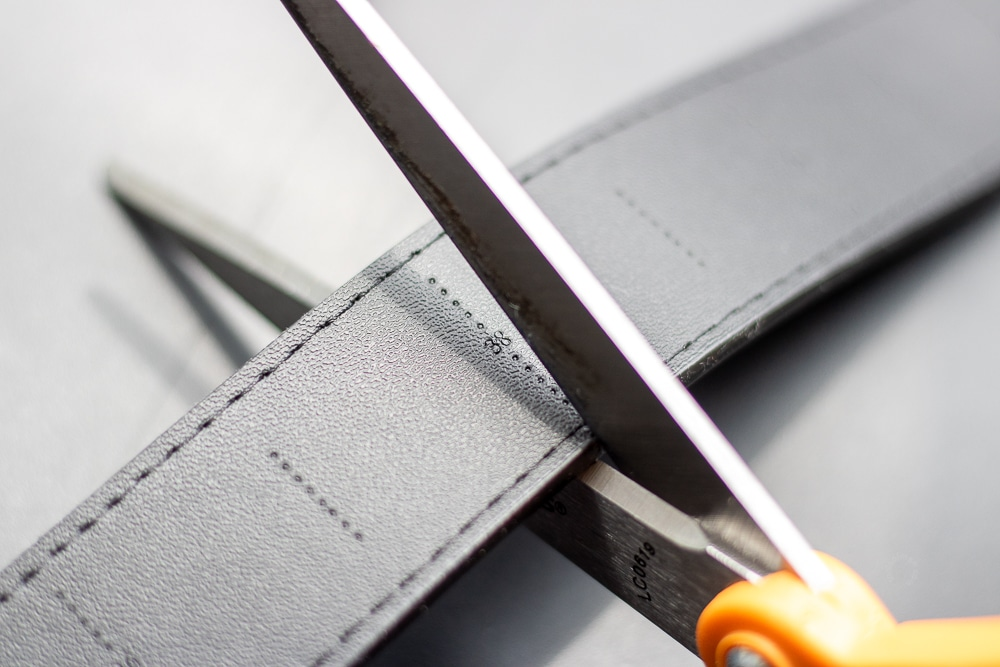 SlideBelts Review - Trimming Strap to Waist Size