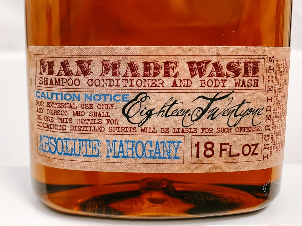 18.21 Man Made Body Wash - Front Label