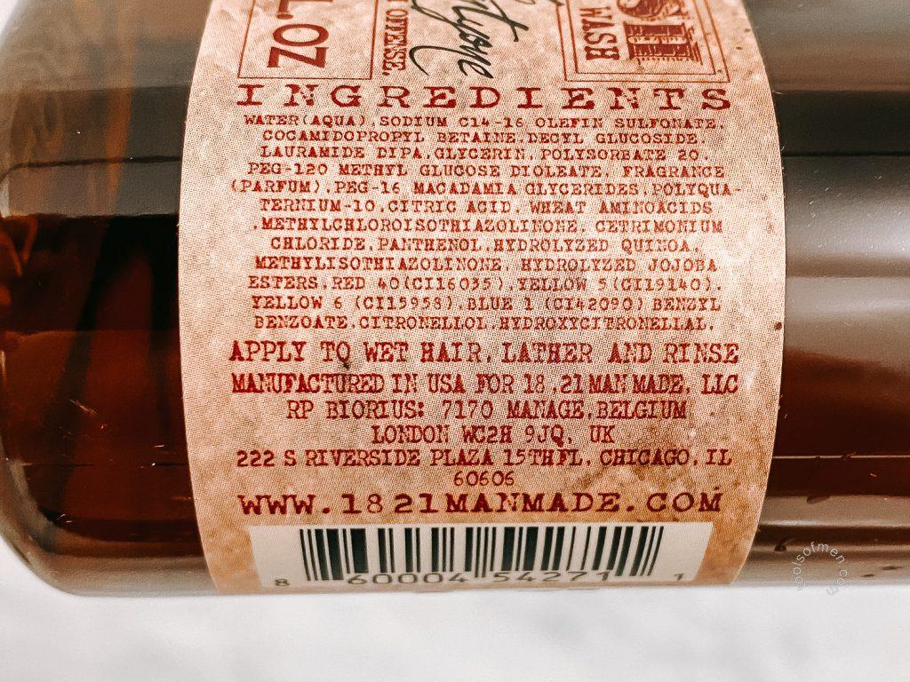 18.21 Man Made Body Wash - Side Label