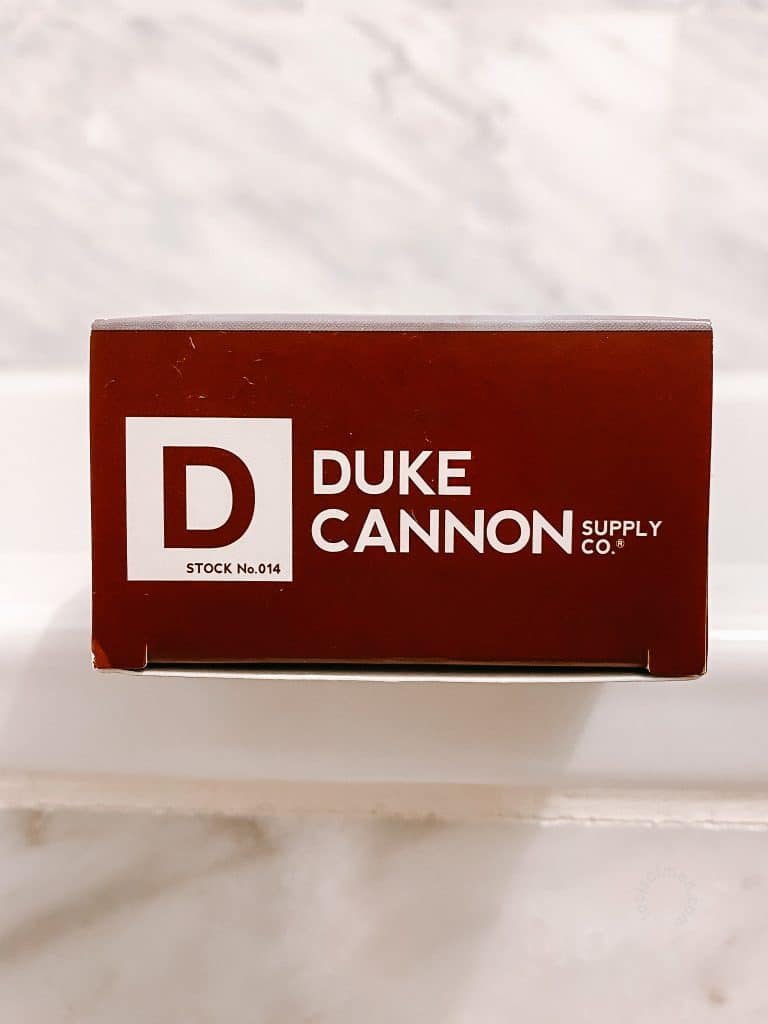 Duke Cannon Big Ass Brick of Soap Packaging Top